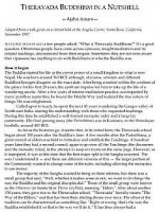 Theravāda Buddhism in a Nutshell