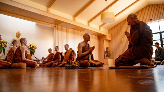 Sāmaṇera Dhammavaro's Bhikkhu Ordination on Sunday, May 17